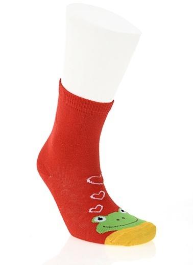 Soo be 3'lü Çorap Kırmızı